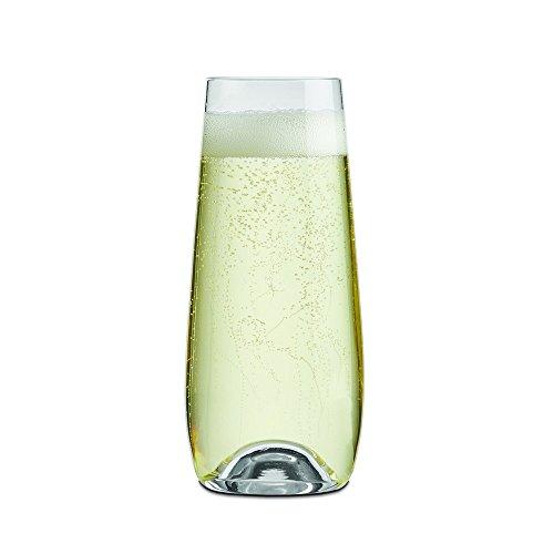 - Rona Slovakia - Drinkmaster Stemless Wine Glasses, (Flutes, 7.5oz. Set of 6)