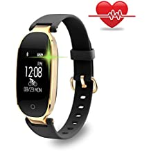Fitness Tracker, Women Sport Tracker Smart Watch Band Bracelet with Heart Rate Monitor, Calorie Counter, Waterproof Wristband Watch with Health Sleep Activity Tracker Pedometer for iOS Android