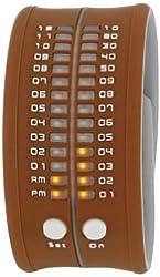 Ritmo Mundo Unisex PD0019 Brown LED Digital Watch