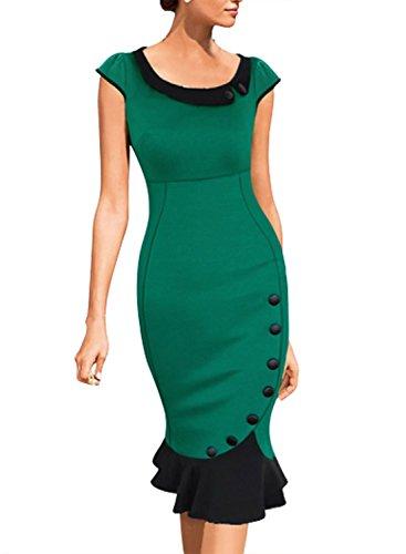 Miusol-Womens-Vintage-Scoop-Neck-Contrast-Bridesmaid-Cocktail-Bodycon-Dress