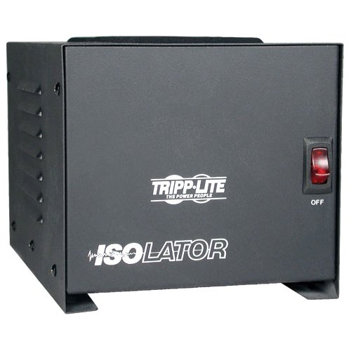 (Tripp Lite IS1000 Isolation Transformer 1000W Surge 120V 4 Outlet 6ft Cord TAA)