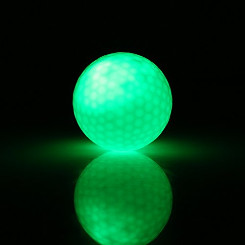 LED Golf Ball, Night Flashing Golf Ball Glowing Ball for Golf Night Training(Green) -
