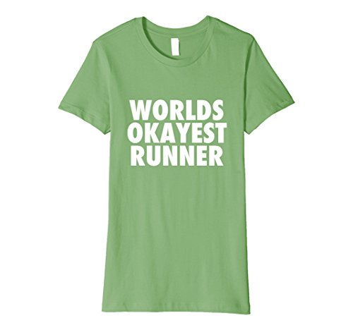 Womens Worlds okayest runner apparel Large - Apparel Runners