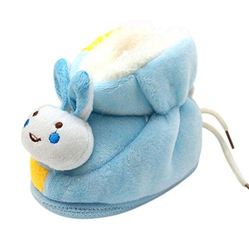 Tefamore Botas bebes de prewalker de nieve de antideslizante de sole suave de moda invierno de calentar Azul