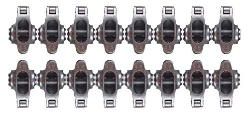"Racerdirect.net Stainless Steel Roller Rocker ARMS, 3/8"" Stud Mount, 1.5:1 Ratio, Natural Finish"