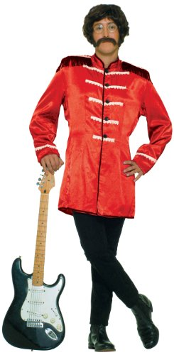 British Explosion Costumes (Forum Novelties Men's British Invasion Costume Jacket, Red, One Size)
