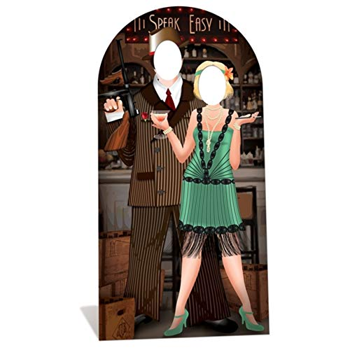 SC682 Roaring 20's Couple Stand-In Cardboard Cutout Standup -