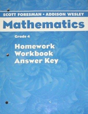 Scott Foresman Mathematics (Homework, Workbook, Answer Key, Grade ...