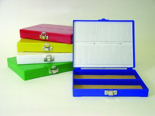 Premiere 100 Capacity ABS Plastic Slide Storage Box, Blue