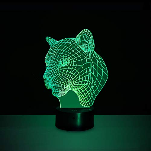 trol LED Leopard Night Light, with 7 Colors, 3 Working Modes and Timer Function ()