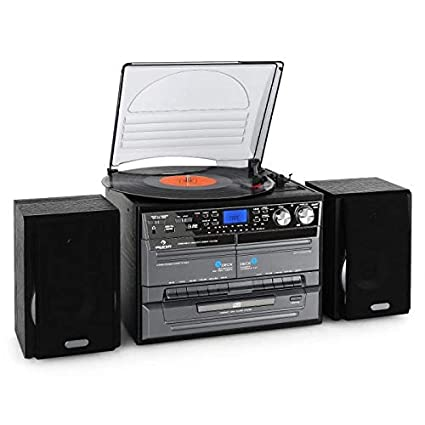 Auna TC-386 - Equipo de música Tocadiscos, Minicadena Hi-fi ...