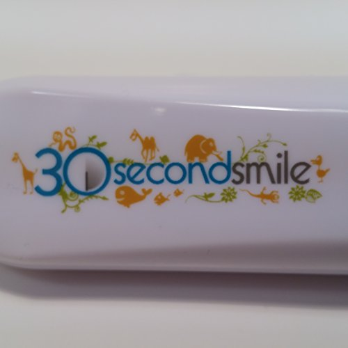 30 Second Smile Children's Battery Powered Toothbrush with Kids Extra Soft Multi-Surface Dual Brush Head, Tongue Scraper, 2 AA Batteries and a Travel Pouch by 30 Second Smile (Image #3)