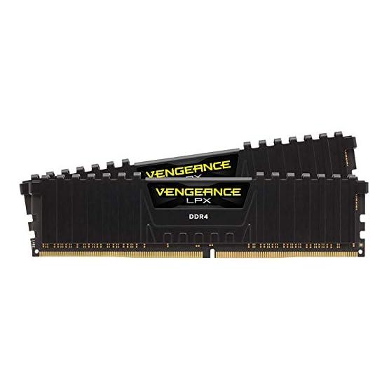 Corsair Vengeance LPX 16GB (2x8GB) DDR4 DRAM 3200MHz C16 Desktop Memory Kit - Black (CMK16GX4M2B3200C16) 418sCJkoOYL. SS555