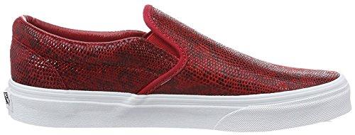 Basses Pebble Snake Vzmrfjg Vans Sneakers Femme Rouge qwCx4EWRW1