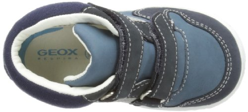 Geox B Flick Boy A - Primeros Pasos de cuero Bebé - niño azul - Bleu (Navy/Blue)