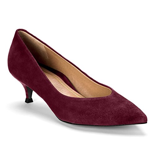 Vionic Womens 389 Kit Josie Leather Shoes Merlot