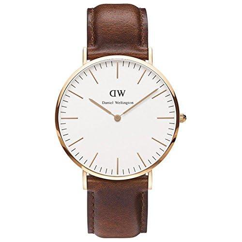 chollos oferta descuentos barato Daniel Wellington 0106DW Reloj Analógico para Hombre de Cuero Marrón