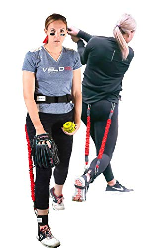 Velopro Softball Training Harness | Resistance Hitting & Pitching Trainer Adds 4-7MPH of Batting Power or Pitch Velocity | Improves Swing and Pitching Mechanics | Get Instant Feedback With Each Rep