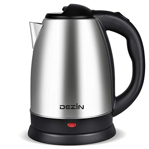 Dezin Electric Kettle Water Heater, 2L Stainless Steel Cordless Tea Kettle, Fast Boil, Auto Shut Off and Boil Dry Protection Tech - Base on SIDE Concept (Simple, Inexpensive, Dependable and Effective) ()