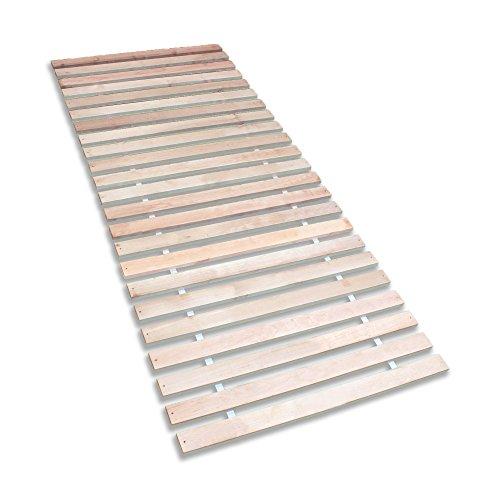 Betten-ABC Premium Rollrost, Stabiles Erlenholz, mit 23 Leisten und Befestigungsschrauben, Grösse 90x200 cm