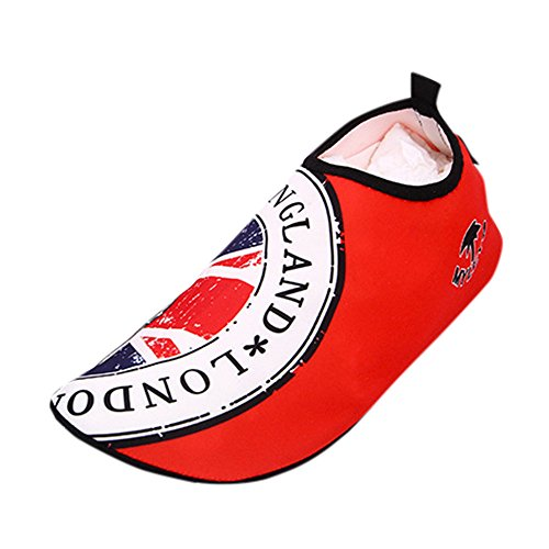 Deesee (tm) Män Kvinnor Surf Beach Snorkling Sport Simning Dykning Strumpor Hud Promenadskor Röd