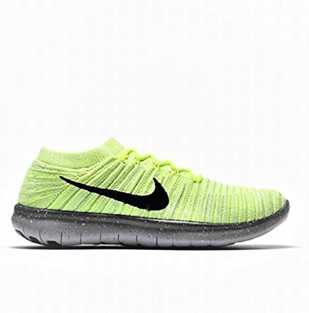 Hombre Nike Free RN Movimiento Flyknit Verde Zapatillas Running ...