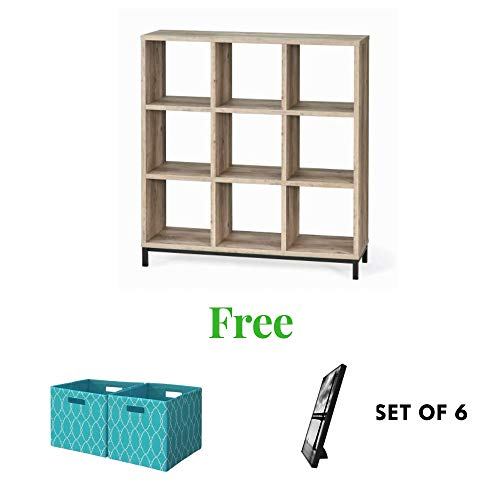 Better Homes and Gardens.. Cube Organizer with Metal Base (9 Cube, Rustic Gray)