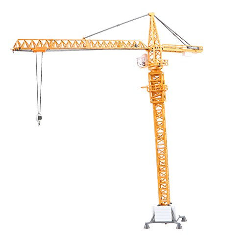 Baoblaze 20'' Diecast TOWER SLEWING CRANE Construction Model Kids Toy Gifts 1:50 Scale