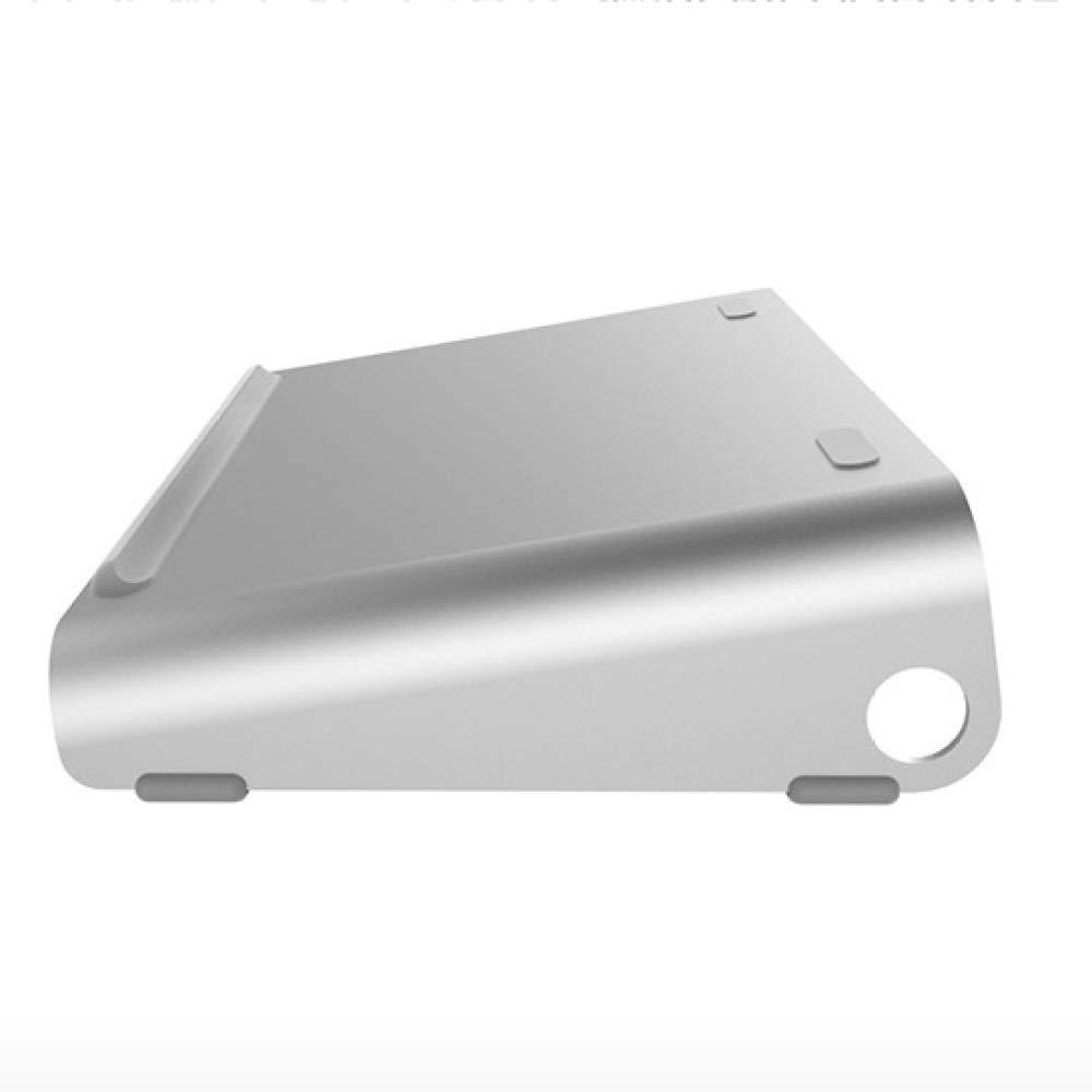 qzp Portátil Radiador Plataforma Portátil Aumentada Base Aumentada Portátil Soporte Almohadilla Alta Plegable Apoyo Perezoso Estante De Aluminio Rotatable,A e81617