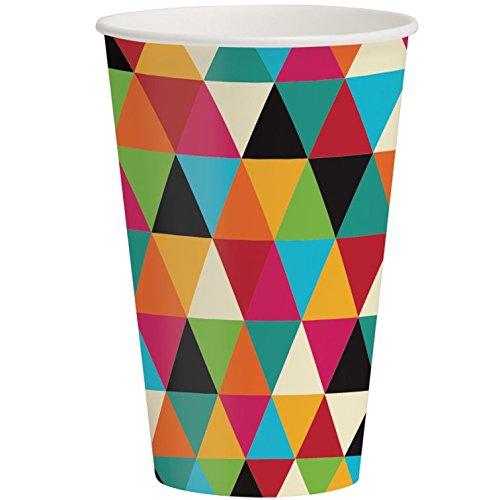 Birthday Kraft 12oz Paper Cups 8 Per Pack