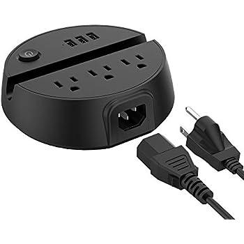 Amazon.com: Cargador USB IC-BS02-B, de cuatro puertos con 3 ...