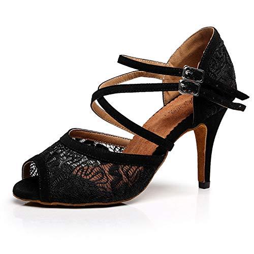 5cm 8 Tango Schwarz Syrads Latein Standard Damen Samba Soziale Tanzschuhe Salsa Partei amp; Tanzschuhe ggOZqwS