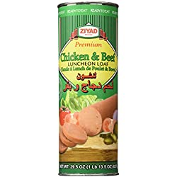 Ziyad Luncheon Halal Loaf Meat, Chicken/Beef, 29.5 Ounce