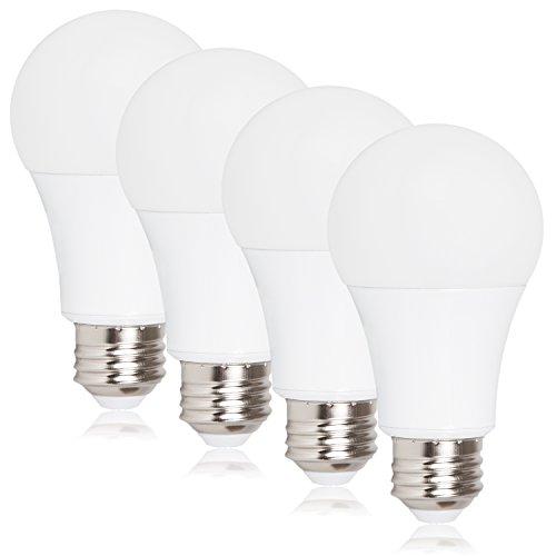 Maxxima Dimmable A19 LED 800 Lumens 60 Watt Equivalent Warm White 2700K 9 Watt Light Bulb Energy Star Rated (4 Pack)