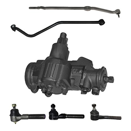 6-Piece Suspension/Gearbox Kit - 1 Power Steering Gearbox (reman), 1 Track Bar (new), 1 Outer Tie Rod Drag Link (new), 1 Outer Tie Rod Ends (new), 2 Inner Tie Rod Ends - Fits 4WD/4x4 ONLY