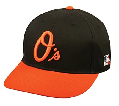 """Baltimore Orioles ADULT Cap """"CURSIVE O"""" MLB Officially Licensed Major League Baseball New Flat/Curved Visor Replica Hat"""