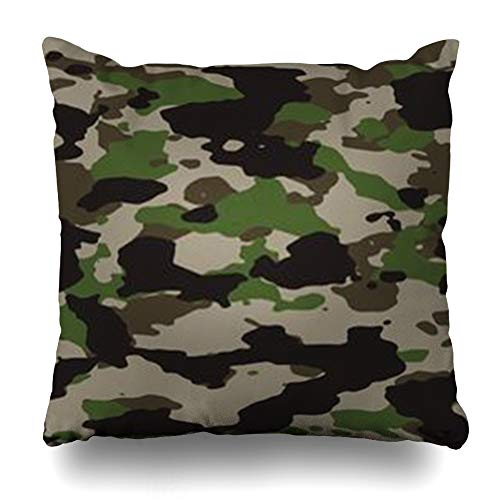 Champ Uniform (Decor Champ Throw Pillow Covers Uniform Woodland Camo 200 Camoflauge Force Technology Brown Army My Portfolio Green Hunting Home Decor Sofa Pillowcase Square Size 18 x 18 Inches Cushion Cases)