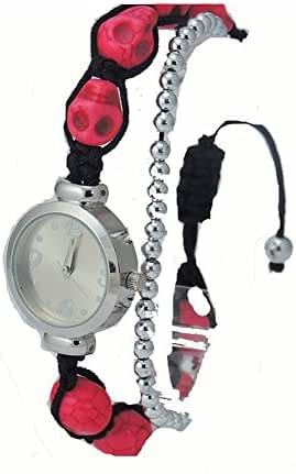 Stylish Pink Skeleton Teen's Girl Watch