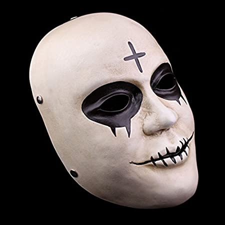 La Purga resina cruz fiesta de Halloween Horror máscara payaso traje de Cosplay: Amazon.es: Hogar