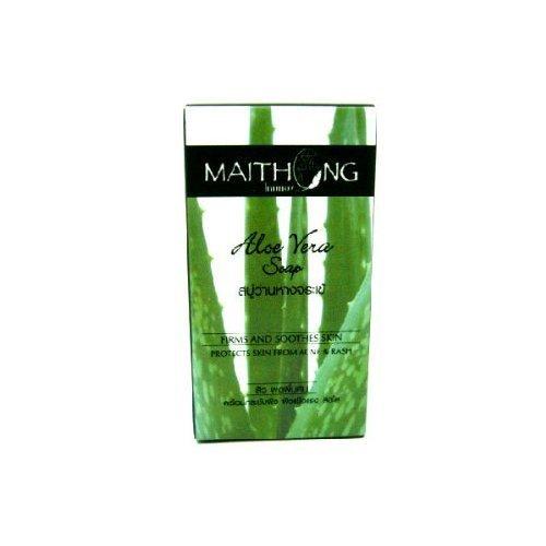 maithong-aloe-vera-cassumunar-herbal-anti-bacterial-soap-anti-acne-firm-soothe-product-of-thailand-b