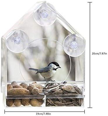 DWY Comedero para pájaros,Alimentador del Loro Transparente Jaula ...