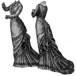 (1878 Figured Bourette Reception Dress Pattern)