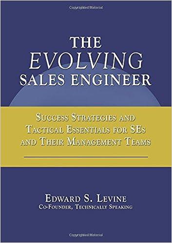 The Evolving Sales Engineer: Edward S Levine: 9781598584141: Amazon.com: Books