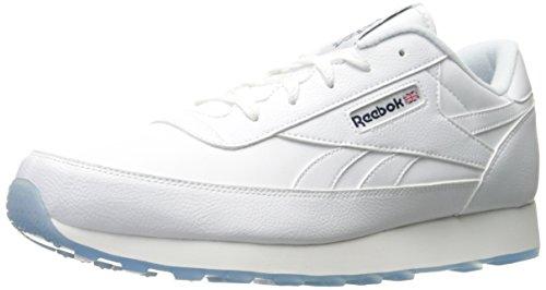 Reebok Men's Classic Renaissance Ice Walking Shoe, White/Coll. Navy Ice, 8.5 4E US (Shoes Walking Mens Leather Classic)