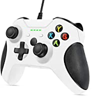 VOYEE Controller Replacement for Xbox One Controller, Enhanced Wired Controller with Headphone Jack/Double Sho