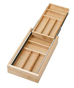 Amazon Com Rev A Shelf Two Tier Wood Cutlery Drawer