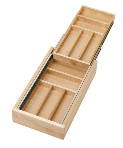 Amazon Com Rev A Shelf Two Tier Wood Cutlery Drawer Organizer Trays