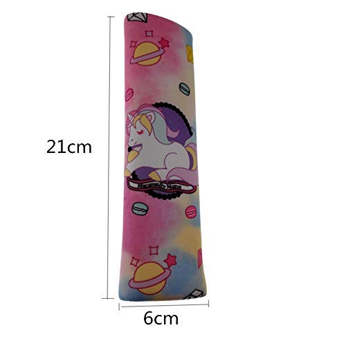borsa da cintura di spalla per maggiore comfort sul viaggio cartoon design Muroad 2/pezzo auto cintura di sicurezza spallina unicorno