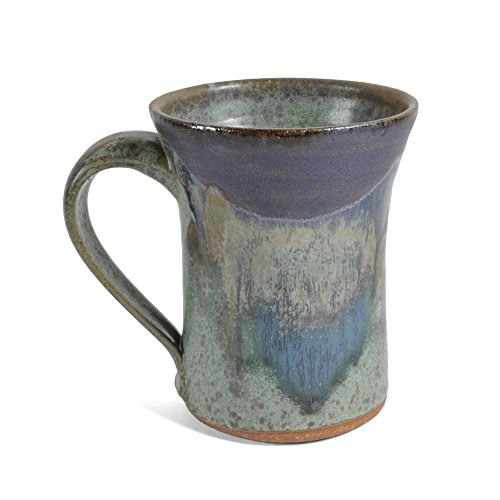 Dock 6 Pottery Mug, Green/Purple