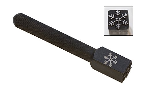 3//8 10 MM Jumbo Snowflake Winter Punch Stamp for Marking Pressing Gold Silver Copper Charms Pendants Jewelry Tool